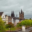 Stock Photo: Rhine River Embankment in Cologne