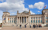 Tourists near Reichstag, September 23, 2012, Berlin, Germany. — Stock Photo
