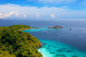 View from a viewpoint on the island Miang, Similan islands, Thailand — Stock Photo