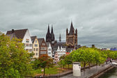 Rhine River Embankment in Cologne — Stock Photo