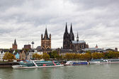 Rhine Embankment in Cologne, Germany — Stock Photo