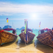 Royalty-Free Stock Photo: Traditional longtail boats in Railay beach, Thailand