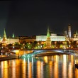 Russia, Moscow, night view of the Moskva River, Bridge and the Kremlin — Stock Photo #23095108