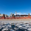 Moscow Kremlin and Moskva River in the sunny spring afternoon. — Stock Photo