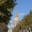 View of Les Invalides in Paris, France. - Stock Photo