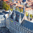 The top view on the Town hall, Bruges, Belgium. — Stock Photo