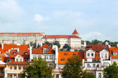 Czech republic, Prague, look on Gradchana and the Vltava River — Stock Photo
