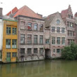 Channel in center of Ghent, Belgium — Stock Video