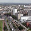 View of Rotterdam from height of bird's flight, Holland — Stock Video