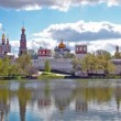 View of the Novodevichy Convent in Moscow in the spring — Stock Video