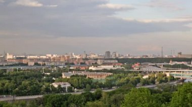 Panoramic view on stadium Luzhniki in Moscow — Stock Video