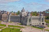 Pałac rolników w kazan - budynek ministerstwa rolnictwa i żywności, republika tatarstan, federacja rosyjska — Zdjęcie stockowe