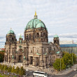 BERLIN, GERMANY - SEPTEMBER 23: Beautiful day view of Berlin Cathedral (Berliner Dom), September 23,2012, Berlin, Germany. Berlin cathedral - the biggest Protestant church of Germany — Stock Photo #28192543