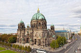 BERLIN, GERMANY - SEPTEMBER 23: Beautiful day view of Berlin Cathedral (Berliner Dom), September 23,2012, Berlin, Germany. Berlin cathedral - the biggest Protestant church of Germany — Stock Photo