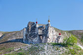 Belltower of a cave monastery in Kostomarovo, Russia — Stock Photo