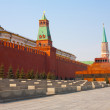 Day view of the Red Square, Moscow Kremlin and Lenin mausoleum, Moscow, Russia — Stock Photo #29773049