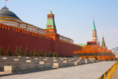 Day view of the Red Square, Moscow Kremlin and Lenin mausoleum, Moscow, Russia — Stock Photo