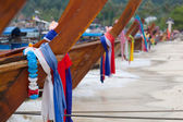 Traditional longtail boats in Railay beach, Thailand — Stock Photo