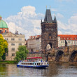 Prague, view of Karlov Bridge — Stockfoto