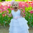 Baby in an elegant dress — Stock Photo