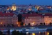 View of night Prague — Stock Photo