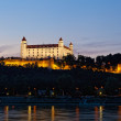 View of the Bratislava lock at night, Slovakia — Stock Photo