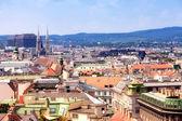 Pohled shora na historické centrum bratislava, slovensko — Stock fotografie