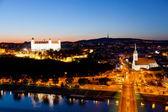 View of the Bratislava lock at night, Slovakia — Stock Photo