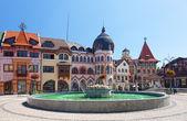 Europe square in Komarno . Slovakia — Stock Photo