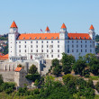 Stock Photo: Medieval castle on the hill against the sky, Bratislava, Slovakia