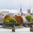 Seine Embankment in Paris, France — Foto Stock