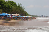Vacationers on a beach, Bali, Indonesia — Stock Photo
