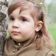 Little girl in a military uniform — Stock Photo #33899717