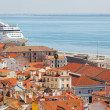 Stock Photo: Tourist ship in port of Lisbon
