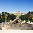 Stock Photo: Gloriette structure and Neptune fountain in Schonbrunn Palace