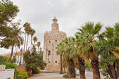 Gold tower in Seville — Stock Photo