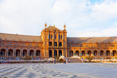 Tourists on Plaza de Espana, Seville, Spain — Stock Photo