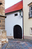 Ancient street in the city of Brno, the Czech Republic — Stock Photo