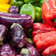 Eggplants and sweet pepper — Stock Photo