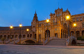 Plaza de Espana at night — Foto Stock