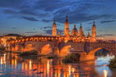 Basilica Del Pilar in Zaragoza — Stock Photo