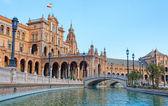 西班牙塞维利亚,西班牙广场 — 图库照片