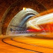 Tram in the tunnel  — Stock Photo