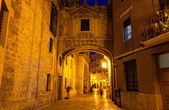 Street of Valencia at night — Stock Photo
