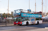 Tourist bus in Barcelona — Stock Photo