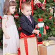 Children and boxes with gifts — Stock Photo #36100559