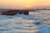 закат и каменные арки — Стоковое фото