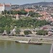 View of the old castle in Bratislava — Stock Video