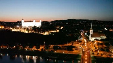 View of the Bratislava — Stock Video