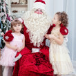 Girls and Father Frost — Stock Photo